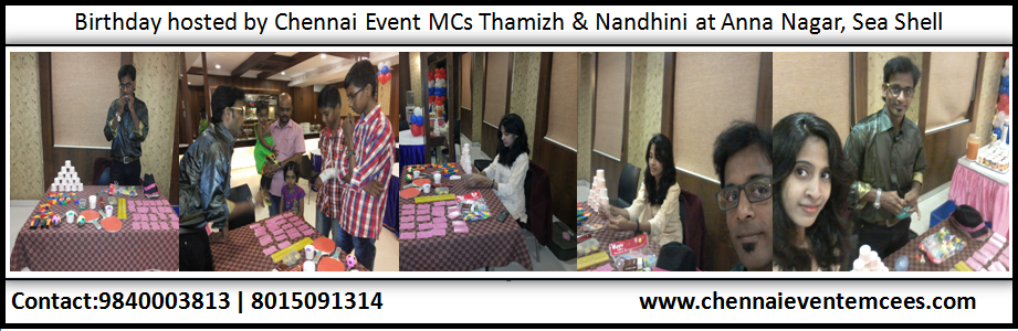 Birthday Party Preparations at Hotel Sea Shell Annanagar Chennai Entertainers Nandhini A and Thamizh RK