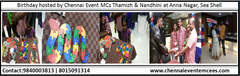 Birthday Party Table Games at Hotel Sea Shell Annanagar Chennai Hosts Nandhini A and Thamizh RK