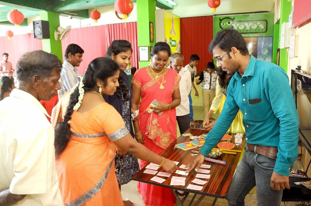 Table Games at Birthday Party Event at Yoyo's Party Hall KK Nagar Chennai MCs Nandhini and Thamizh