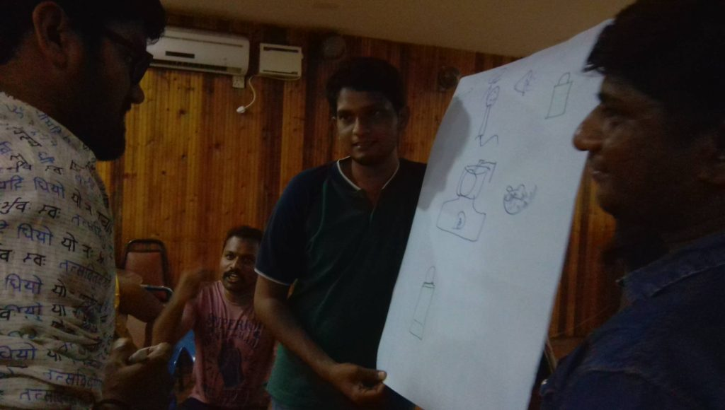 Drawsharad Drawing based creative games for corporate team outing at Blue Bay Resorts ECR_Emcee Thamizh RK