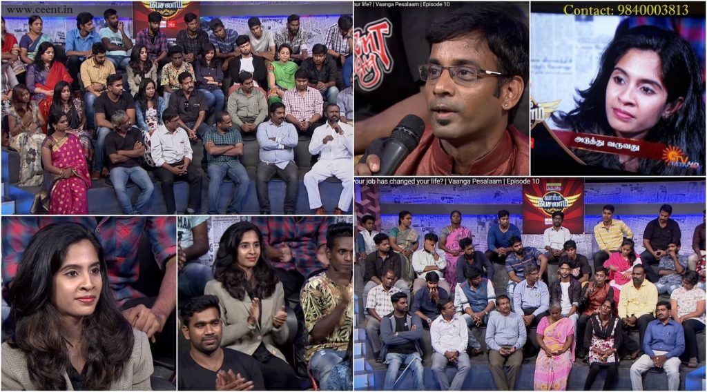 Chennai Event Anchors Thamizharasan and Nandhini in Sun TV Vaanga Pesalaam Talk Show