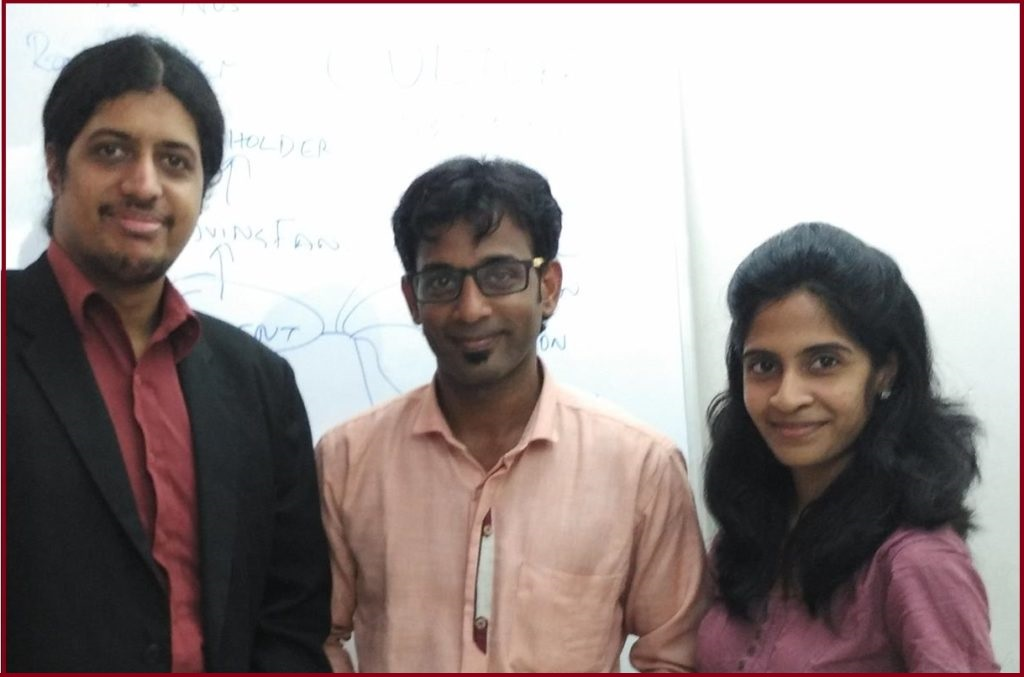 Chennai Event Professionals Thamizharasan and Nandhini with their Mentor Business Coach Dr Maharaja SivaSubramanian N. Business Leadership Bootcamp Intense Training