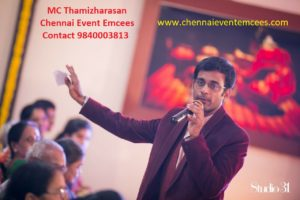 Chennai Event Emcees and Entertainers Anchor Thamizhrarasan Karunakaran