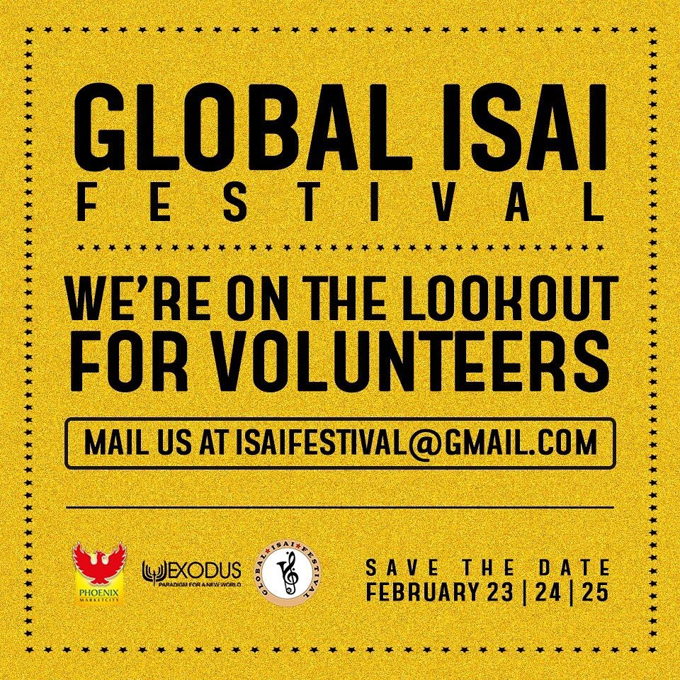 Global Isai Festival in Chennai Looking out for volunteers