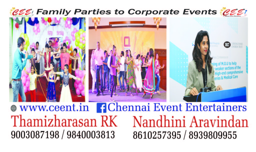 Chennai Event Emcees MC Anchor VJ Actor Thamizharasan Karunakaran and Emcee Nandhini Aravindan