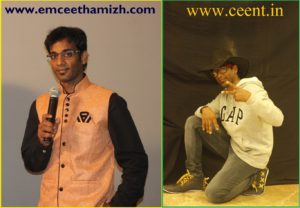 Chennai Event Emcees and Entertainer Thamizharasan Karunakaran