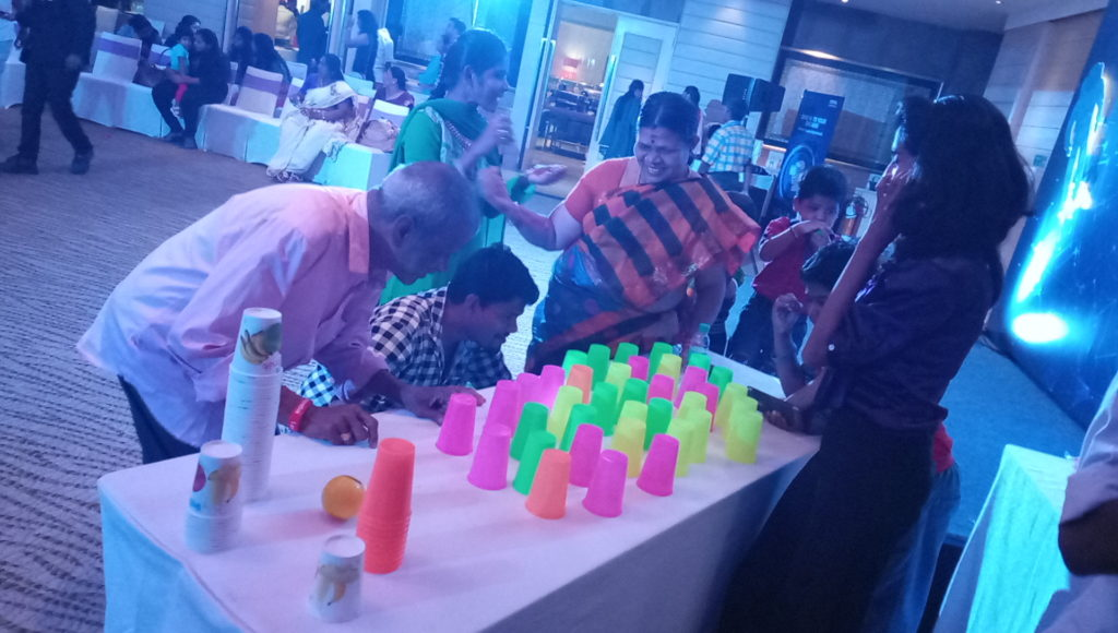 Table games for Adults at Corporate Family Gettogether at Hotel Raintree Annasalai CEE Team