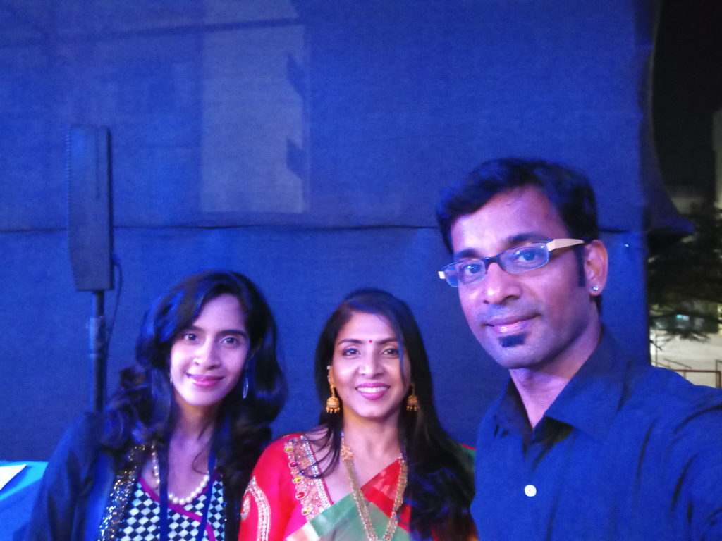 Anchor VJ PD Priyadarshini and Super Singer Indian Idol Nithyashree at Rebuild Kanyakumari show
