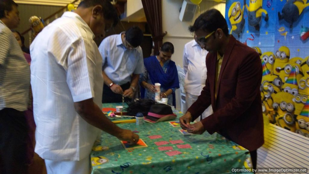 Table Games in Birthday Parties conducted by Chennai Event Emcees and Entertainers