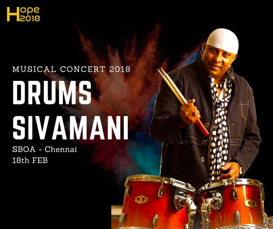 Tickets for Lets Rebuild Kanyakumari Drums Sivamani Live in Concert Fund raising for Cyclone Ockhi (okki) Victims 2