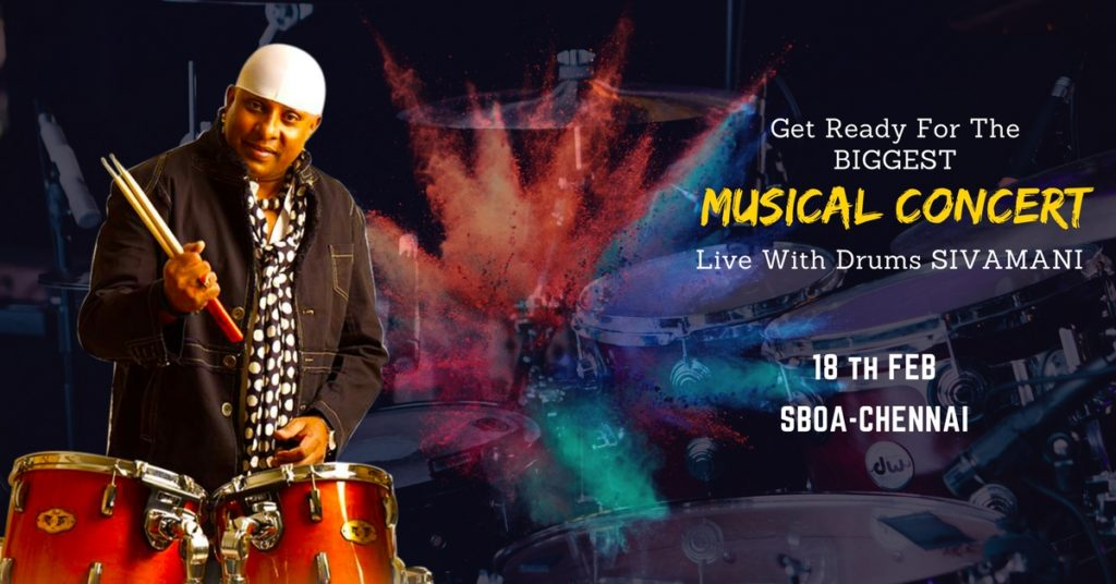 Tickets for Lets Rebuild Kanyakumari Drums Sivamani Live in Concert Fund raising for Cyclone Ockhi (okki) Victims 3