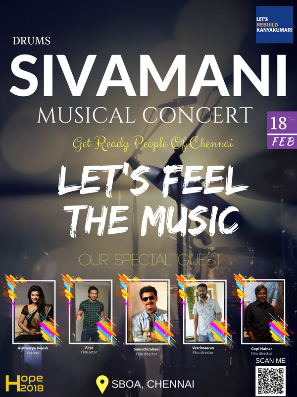 Tickets for Lets Rebuild Kanyakumari Drums Sivamani Live in Concert Fund raising for Cyclone Ockhi (okki) Victims 5