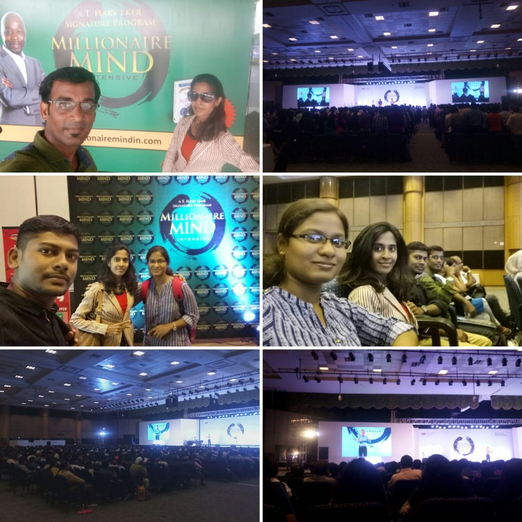 Chennai Event Emcees Team attending Millionaire Mind Intensive at CTC.