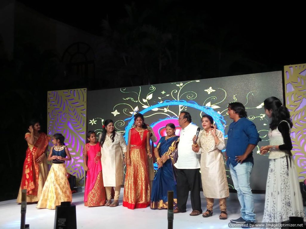 Doctor Bride's mother's speech at Sangeet Ceremony at The Royal Palms Farm House Injambakkam