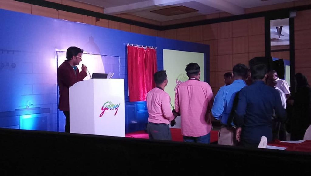 Lighting Lamp at Godrej product launch at Cenneys Gateway Hotel Salem
