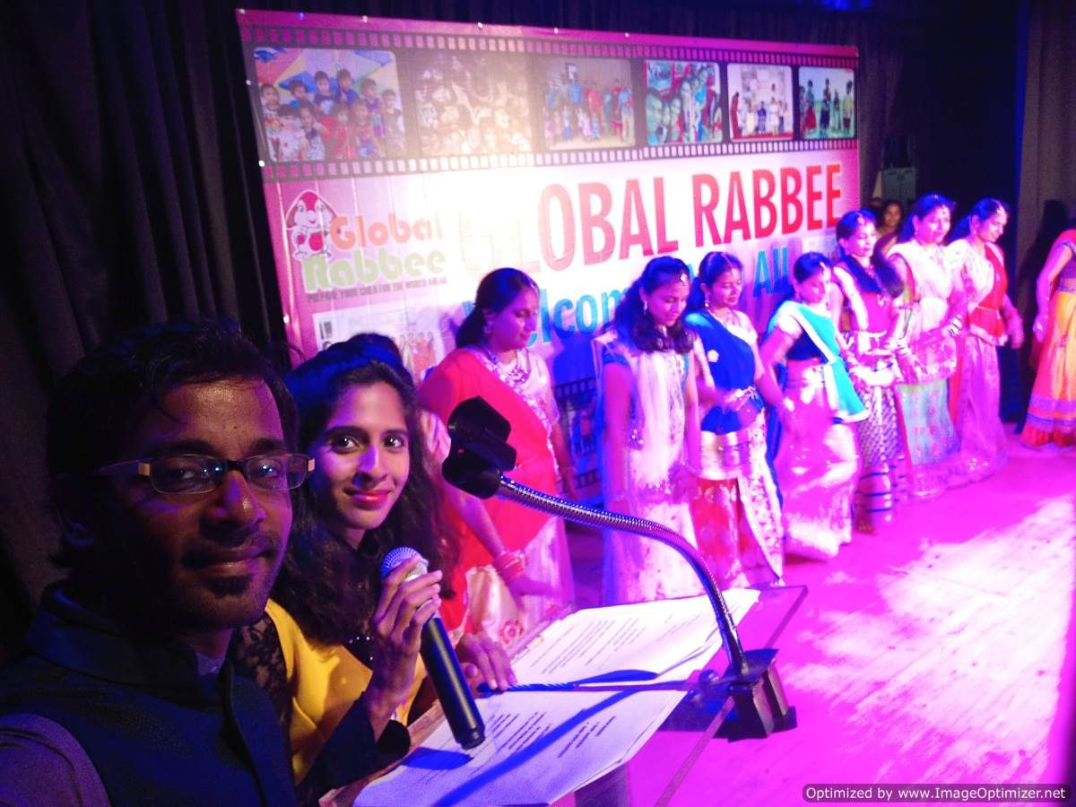 Global Rabbee Play School Annual Day at Madras Music Academy Chennai Event Anchors