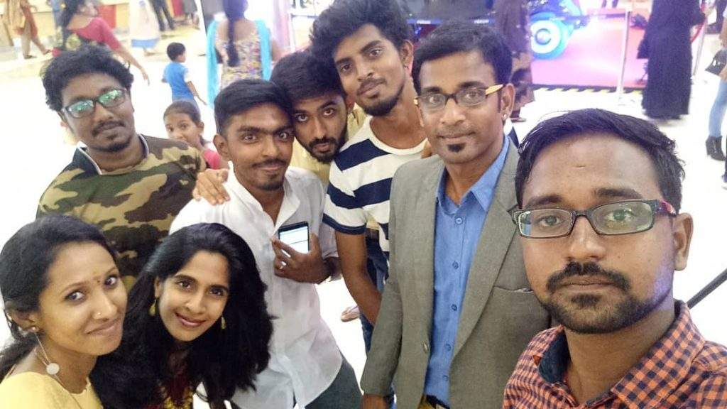 Chennai Event Emcees and Entertainers Team with Entertainer Shravan at Forum Mall