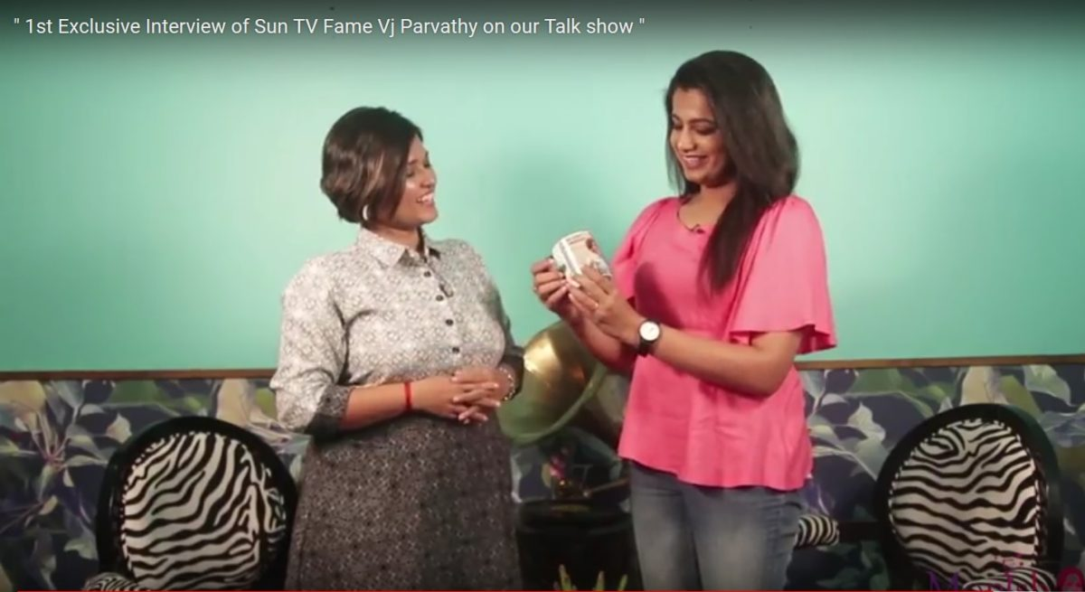 Emcee Monisha interviewing MC VJ Parvathi Thanks for the credit to CEE