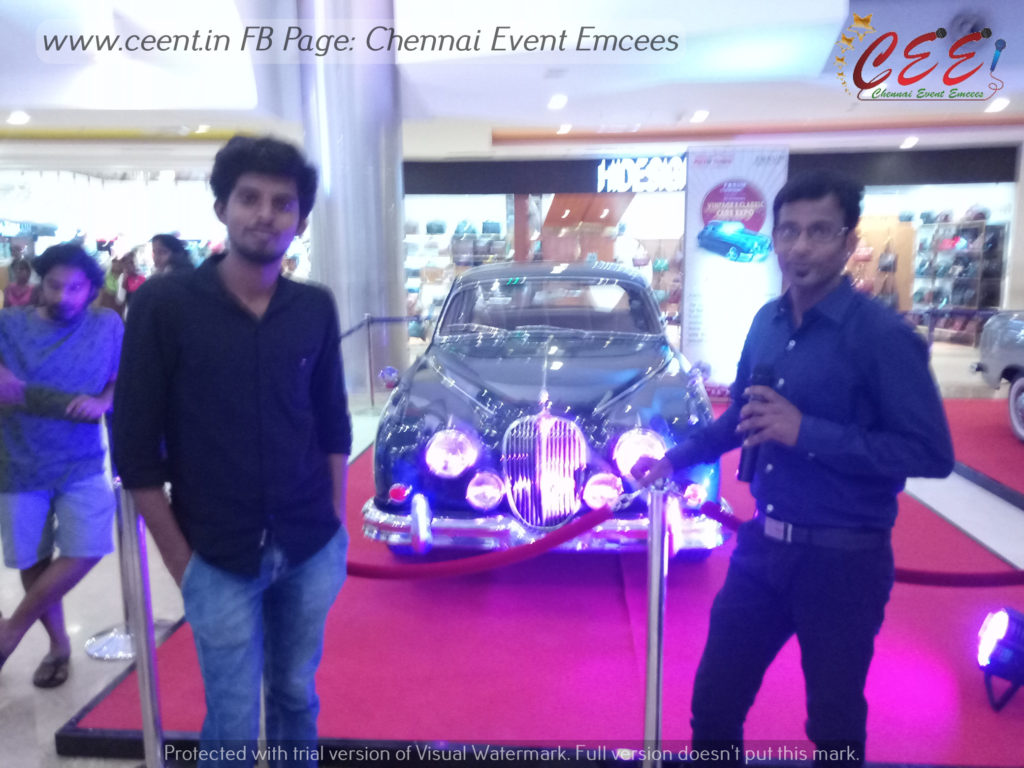 MC Thamizh about Vintage and Classic Cars and Bikes Expo at Forum Mall Chennai and The Forum Vijaya Mall Chennai 5th Anniversary