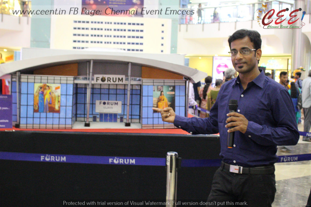 Vintage and Classic Cars and Bikes Expo at The Forum Vijaya Mall Chennai Emcee Thamizh and The Forum Vijaya Mall Chennai 5th Anniversary