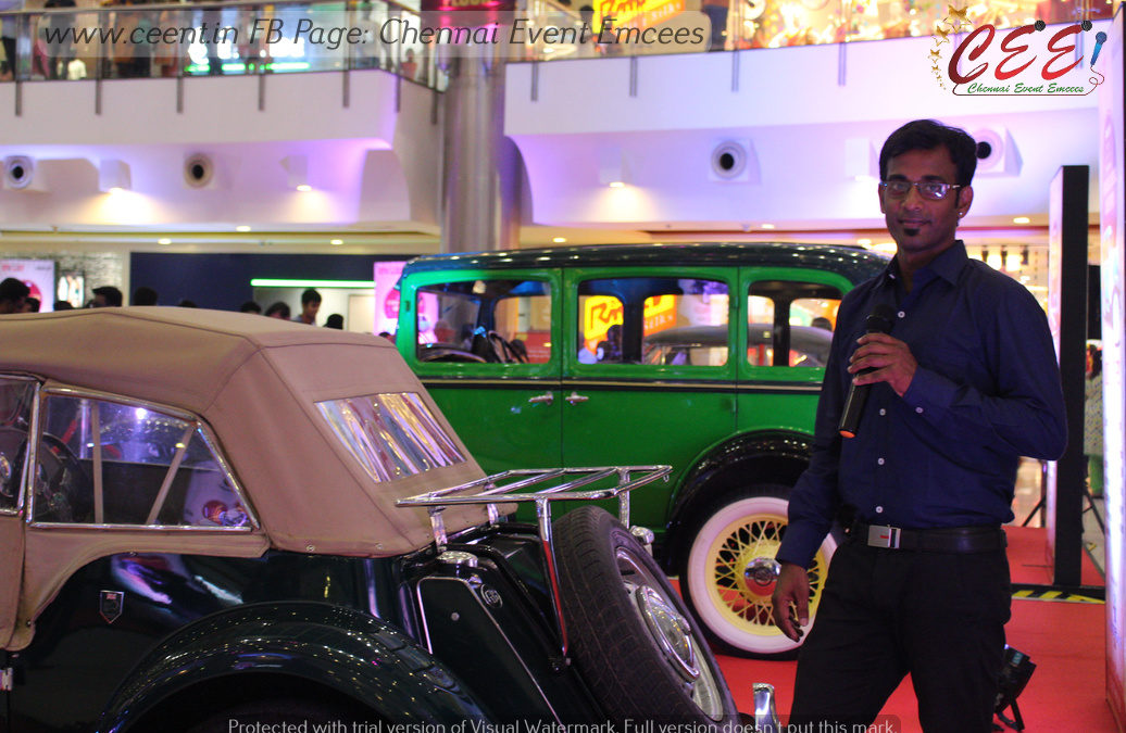 Vintage and Classic Cars and Bikes Expo at The Forum Vijaya Mall Chennai Emcee Thamizh