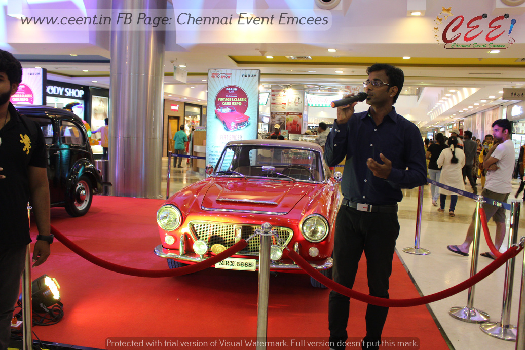 MC Thamizh about Vintage and Classic Cars and Bikes Expo at Forum Mall Chennai