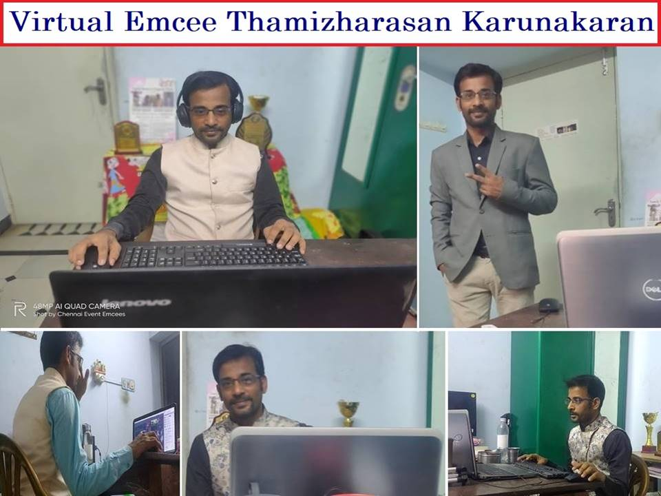 Virtual Event Emcee Thamizharasan for Online conference and Digital Events